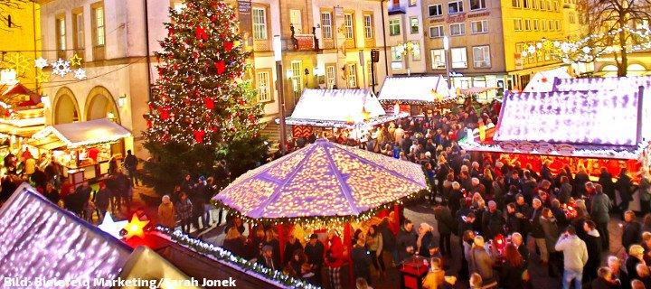 Bielefelder Weihnachtsmarkt.Lichterzauber Beim Bielefelder Weihnachtsmarkt Bielefeld App